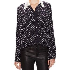 Marc By Marc Jacobs silk vivie heart blouse
